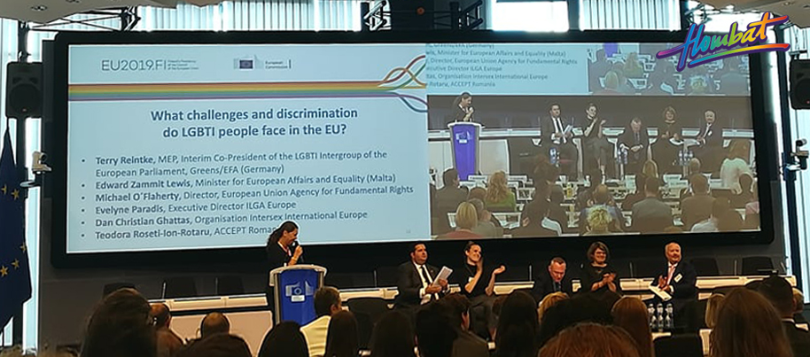 "Hombat participated in the ""High level Conference on Advancing LGBTI equality in the EU: from 2020 and beyond"""